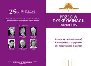 PRZECIW DYSKRYMINACJI - Rzecznik Praw Obywatelskich