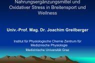 Nahrungsergänzungsmittel und Oxidativer Stress in Breitensport - AKE