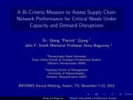 A Bi-Criteria Measure to Assess Supply Chain Network Performance ...