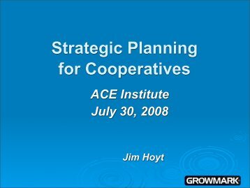 Jim Hoyt, GROWMARK, Inc. - Association of Cooperative Educators