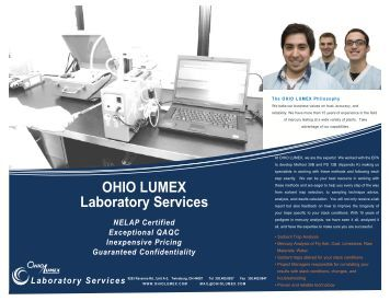 OHIO LUMEX Laboratory Services - Ohio Lumex Co.