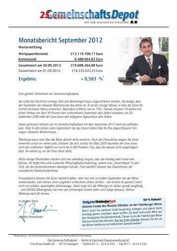 Monatsbericht September 2012 - Weiler Eberhardt Depotverwaltung ...
