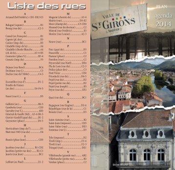 Saint-Girons 2013 - plan