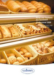 Körbe und Tischsets aus Kunststoff Professional 2009 - Horeco