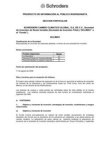 PROSPECTO DE INFORMACIÓN AL PÚBLICO INVERSIONISTA ...