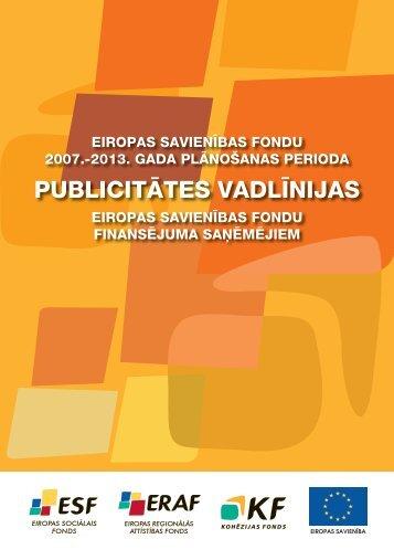 PUBLICITĀTES VADLĪNIJAS - ES fondi