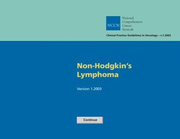 Non-Hodgkin's Lymphoma.
