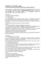 16/2010. (IV. 15.) EüM rendelet