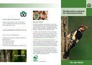 Flyer - Waldbesitzerverband für Rheinland-Pfalz