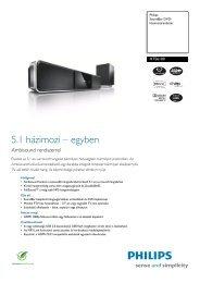 HTS6100/12 Philips SoundBar DVD-házimozirendszer