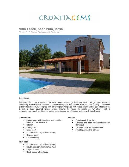 Villa Fendi, near Pula, Istria - CroatiaGems