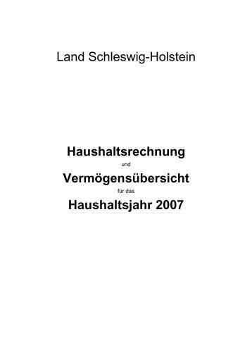 Haushaltsjahr 2007