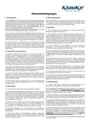 Einkaufsbedingungen - Gustav Klauke GmbH