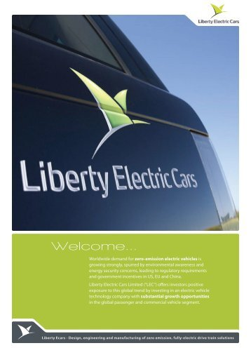4864 LIBERTY investor brochure - Liberty Electric Cars