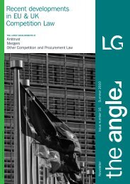 Recent developments in EU & UK Competition Law - Lawrence ...