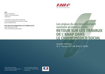 Téléchargez le programme de ce colloque (.pdf) - Anap