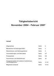 Tätigkeitsbericht November 2004 - Februar 2007 - Landesfrauenrat ...