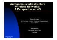 Autonomous Infrastructure Wireless Networks - A Perspective on 4G