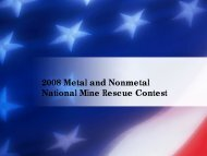 2006 Metal and Nonmetal National Mine Rescue Contest - Usmra.com