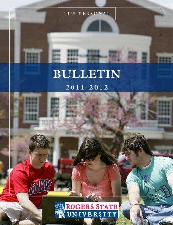 Complete RSU Undergraduate Bulletin - Rogers State University