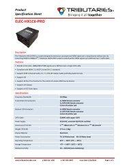 ELEC-‐HX1C6-‐PRO - Tributaries Cable