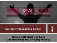 University Counseling Center Coping with Grief and Loss ...