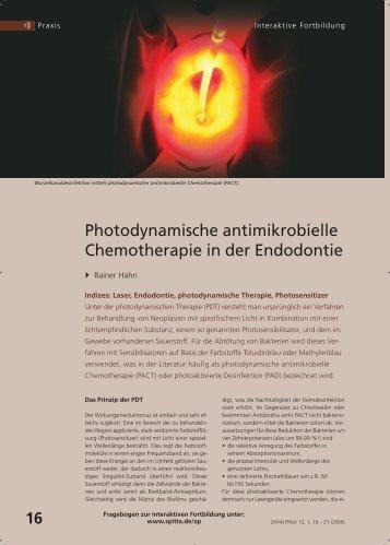 Photodynamische antimikrobielle Chemotherapie in der ... - Cumdente