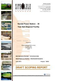 DSR for the proposed new 30yr ash disposal facility at ... - SAHRA