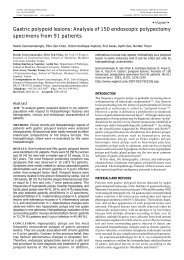 Gastric polypoid lesions: Analysis of 150 endoscopic ... - caded