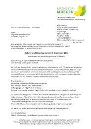 Einladung Oasentag 2012 - Kirche für morgen