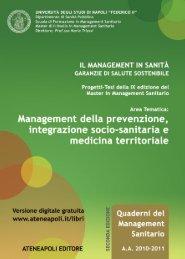 Management della prevenzione, integrazione socio ... - Ateneapoli