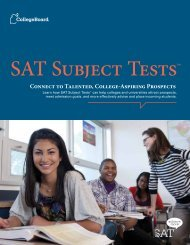 About the SAT Subject Tests - For Professionals - College Board
