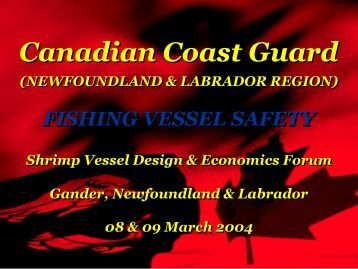 Fishing Vessel Safety by Neil Peet/Merv Wiseman - CCFI