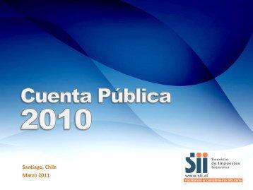 Cuenta pública año 2010 - Servicio de Impuestos Internos