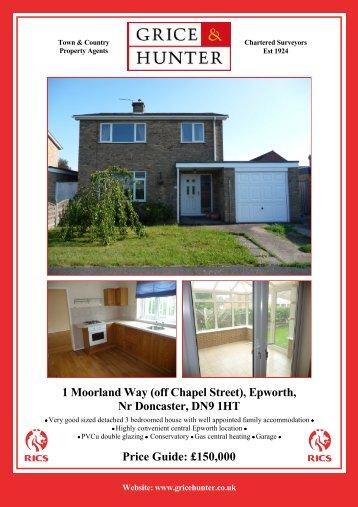 (off Chapel Street), Epworth, Nr Doncaster, DN9 1HT - Grice & Hunter
