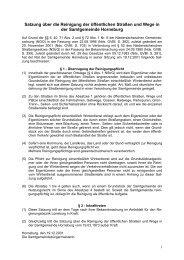 Satzung über die Reinigung der öffentlichen Straßen und Wege in ...