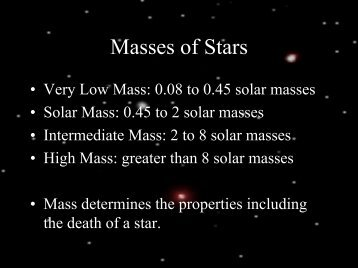 Masses of Stars