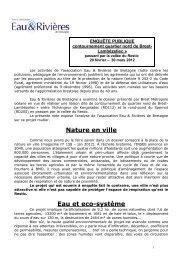 route de contournement Restic Brest - Eau et rivières de Bretagne