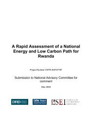 A Rapid Assessment of a National Energy and Low Carbon Path for ...