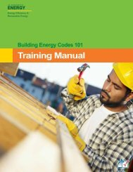 Building Energy Codes 101 Training Manual - Nebraska Energy Office