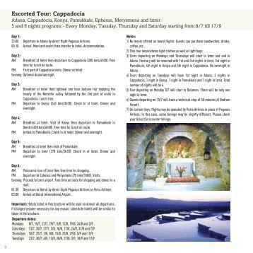 Escorted Tour: Cappadocia - Nakhal Travel