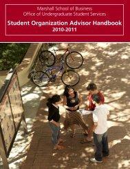 Student Organization Advisor Handbook - USC Marshall