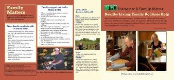 to download brochure ( PDF ) - Diabetes: A Family Matter