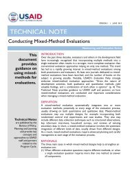 Technical Note: Conducting Mixed Method Evaluations - usaid