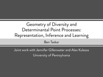 Geometry of Diversity and Determinantal Point Processes ...