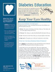 Keep Your Eyes Healthy - Better Living Now Health Education Guide