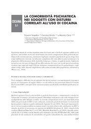 Le patologie correlate nei consumatori di cocaina - Dipartimento per ...