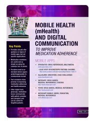 MOBILE HEALTH (mHealth) AND DIGITAL ... - CMEcorner.com