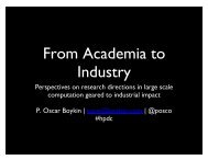 From Academia to Industry: Perspectives on research ... - HPDC