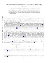 Permanent magnetic moment in mesoscopic metals with ... - Physics